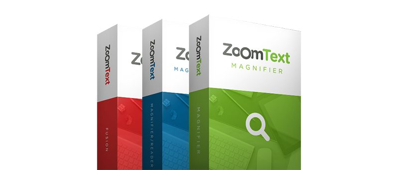 Photo des boites ZoomText