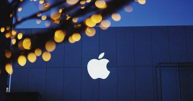 Logo Apple mis en scène