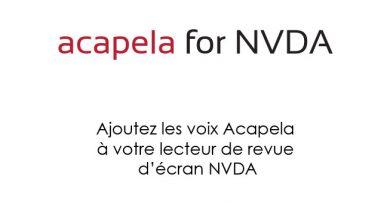Logo du logiciel de synthèse vocale Acapela TTS Voices For NVDA