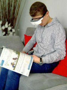 Témoignage : Enzo 14 ans utilise les lunettes connectées eSight