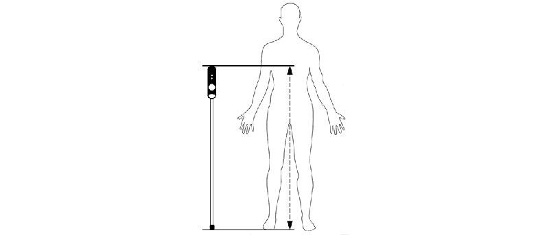 Prendre la mesure de sa canne de locomotion pour aveugle ou malvoyant
