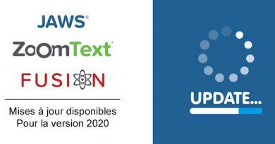 Mises à jour Vispero jaws zoomtext fusion 2020
