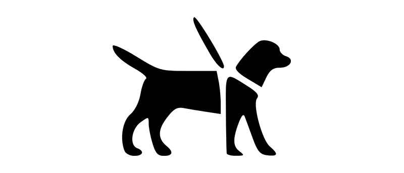 Logo chien-guide d'aveugle