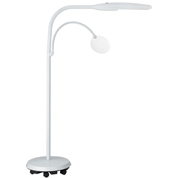 Lampe sur pied à roulettes Swan
